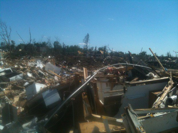 The remnants of my apartment community. Photo Credit: Janece Maze